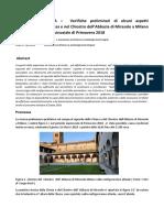Archeoastronomia Verifiche Preliminari Di Alcuni Aspetti Calendariali Presenti Nella Chiesa e Nel Chiostro Dell'Abbazia Di Mirasole a Milano Durante Il Periodo Equinoziale Di Primavera 2018