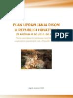 Plan Upravljanja Risom u Republici Hrvatskoj Za Razdoblje Od 2010 Do 2015