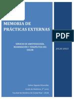 Memoria de Prácticas. Anestesia. Esther Gigante