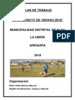 Plan de Trabajo Sr. Fabio 2018
