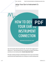 How to Develop Your Ear to Instrument Connection