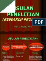 Usulan Penelitian Prof Soedjono A