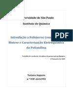 IntroduçãoaPolímerosCondutores - SínteseeCaracterizaçãoEletroquímica daPolianilina