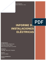Informe de Instalaciones Eléctricas