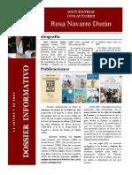 ENCUENTRO CON AUTORES Dossier Informativo. Rosa Navarro Durán
