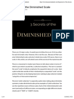 Secrets of the Diminished Scale
