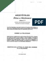 ARISTOTELES - Etica a Nicomaco- Resumen Cap. 1