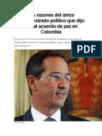 Fernando Araujo Sobre El Proceso de Paz
