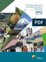 Estrategia Nacional de Cambio Climatico Del Ecuador