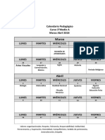 FORMATO Calendario Pedagógico Marzo Abril