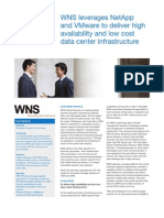 WNS leverages NetApp and VMware to deliver high availability and low cost data center infrastructure