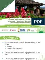 Censo Nacional Agropecuario 2014