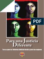 DEMUS Para Una Justicia Diferente. Temas Para La Reforma Judicial Desde y Para Las Mujeres