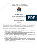 Ley de Turismo Sancionada 2007 Estado Zulia