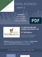 IB - week 2