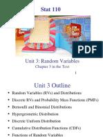 Unit 03 - Random Variables - 1 Per Page