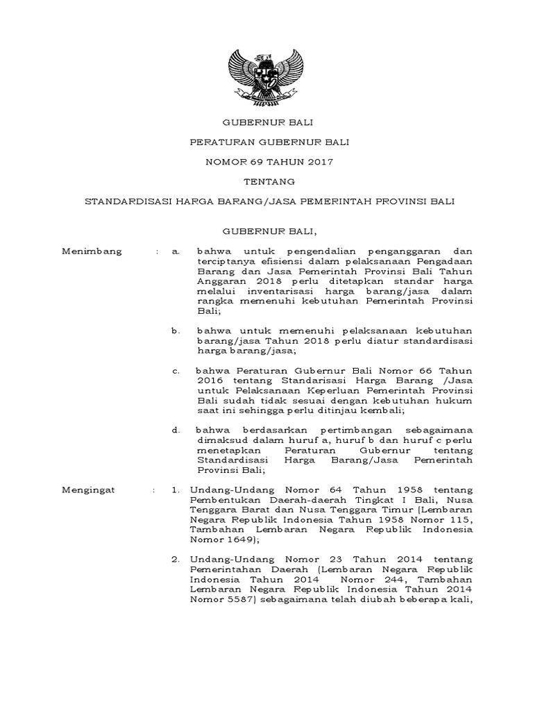 pergub Analisa Harga 2018 Prov. Bali 687d23cfcb