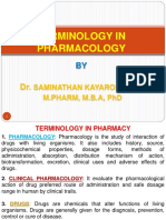 5. Terminology in Pharmacology