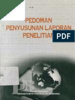 Pedoman Penyusunan Laporan Penelitian 2002