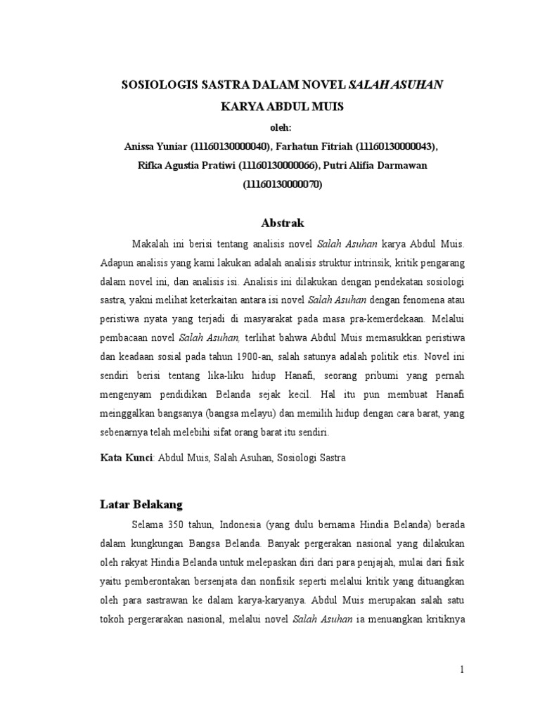 Edited Makalah Salah Asuhan