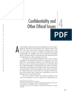 Confidentiality And Other Ethical Issues