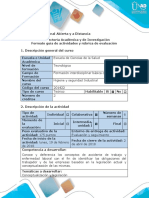Guía de Actividades y Rubrica de Evaluación Fase 2 - Planificar - Conceptualiza en Un Cuadro Enfermedad Laboral y Accidente de Trabajo