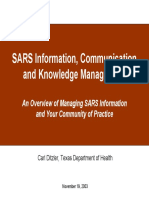 SARS Information, Communication and Knowledge Management