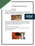 Trabajo de Materiales de Construcción