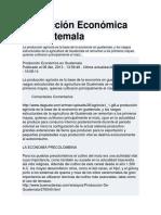 Producción Económica en Guatemala