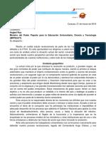 Carta de la FTUV