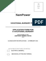 Vocational Bursary Application Form 2018