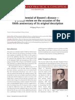 The Centennial of Bowen's Disease