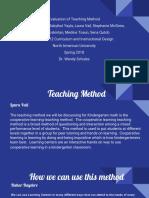 evaluation of teaching method
