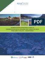 42375 Planificacion Estrategica Para La Conservacion en El Esquema Del Fondo de Agua Para Lima y Callao AQUAFONDO