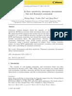 Investment Cashflow Sensitivity