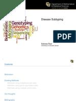 Disease Subtyping