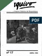 Boletim Do Arquivo Histórico de Moçambique Nº17 - Abril 1995