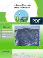 Introducing Renewable Energy To Mongolia