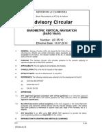 Ac 35-Barometric Vertical Navigation (Baro Vnav)