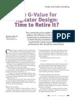 G-Value for Agitator Design