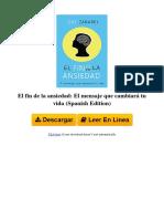 b01fwpgwa4 El Fin de La Ansiedad El Mensaje Que Cambiar Tu Vida Spanish Edition by Gio Zararri