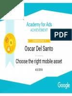 Google Mobile Marketing Certificate