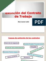 Extinción Del Contrato de Trabajo Guía de Clase Laura Leon.