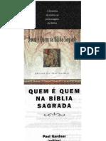 Quem é quem na Bíblia Sagrada - Paul Gardner.doc
