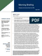 S&P Morning briefing April 3, 2018