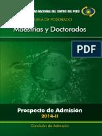 _Prospecto.Admision.Posgrado-2014--UNCP-