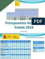Presentación de los Presupuestos 2018