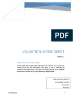 Home Depot Valuation
