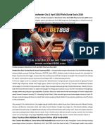 Prediksi Liverpool vs Manchester City 5 April 2018 Piala Dunia Rusia 2018