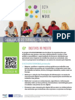 ICT4YOUTHWORK - Project flyer in Portuguese